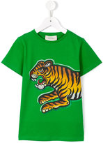 Gucci Kids - tiger print T-shirt - kids - Cotton - 12 yrs