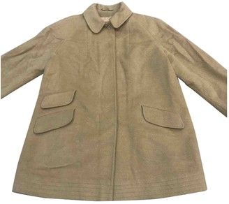 Aquascutum London Beige Wool Coats