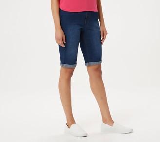 Denim & Co. 5-Pocket Cuffed Bermuda Shorts