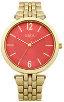 """Oasis Gold Orange Dial Watch [span class=""""variation_color_heading""""]- Gold[/span]"""