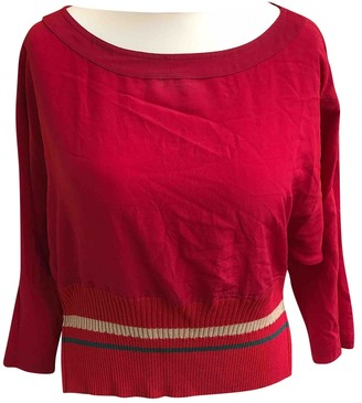 Gianni Versace Red Silk Top for Women Vintage