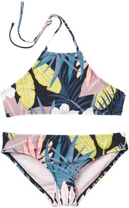 Raisins Sunset Beach Halter Two-Piece Swimsuit