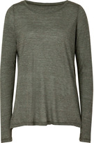 Heather Olive Slash Side T-Shirt