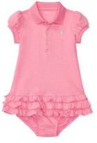 Polo Ralph Lauren Ruffled Polo Dress & Bloomer (0-24 Months)