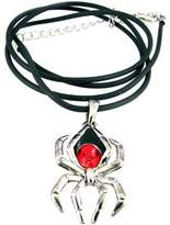 Summit Black Widow Spider Pendant - Collectible Medallion Necklace Accessory