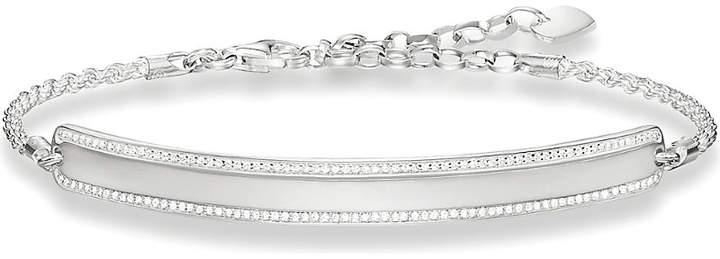 Thomas Sabo Lovebridge sterling silver and zirconia bracelet