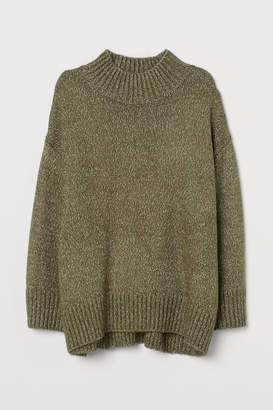 H&M H&M+ Mock-turtleneck Sweater - Green