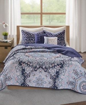 Intelligent Design Odette Boho Reversible 5-Pc. Full/Queen Quilted Coverlet Set Bedding