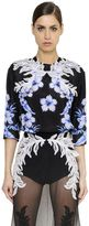Francesco Scognamiglio Embellished & Printed Silk Habotai Top