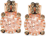LeVian Le Vian Peach Morganite (1-3/4 ct. t.w.) and Diamond (1/4 ct. t.w.) Earrings in 14k Rose Gold, Created for Macy's