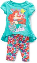 Children's Apparel Network Green Disney Princess Ariel Tunic & Leggings - Toddler & Girls