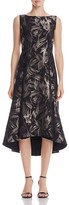 Lafayette 148 New York Julianna Metallic Abstract Print Dress