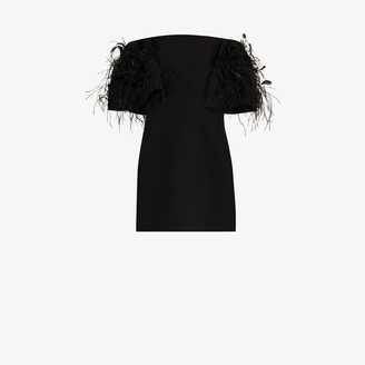 Valentino Feather Embroidered Mini Dress