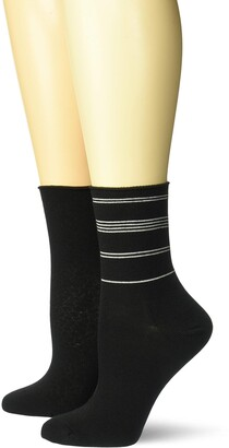Dr. Scholl's Women's American Lifestyle Collection Roll Top Crew Socks 2 Pair