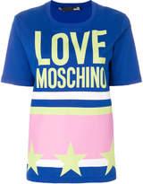 Love Moschino colour-block logo T-shirt
