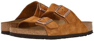 Birkenstock Arizona Soft Footbed (Mink Suede) Shoes