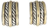 David Yurman Two-Tone Cable Clip-On Earrings