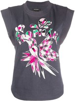Isabel Marant embroidered sleeveless T-shirt