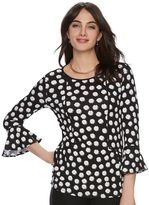 Elle Women's ELLETM Printed Peplum Top