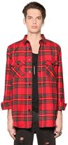 Les (Art)ists Plaid Light Cotton Blend Flannel Shirt