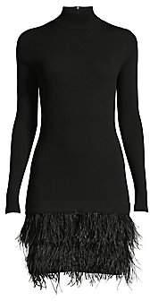 MICHAEL Michael Kors Women's Feather-Skirt Rib-Knit Sweater Dress
