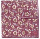 ISAIA Floral print linen pocket square