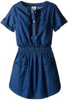 Armani Junior Two-Pocket Dress with Ruffled Detail (Big Kids)