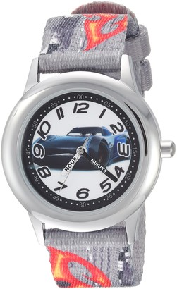 Disney Boys Cars 3 Stainless Steel Analog-Quartz Watch with Nylon Strap