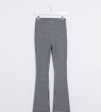 Collusion flare pants in gingham