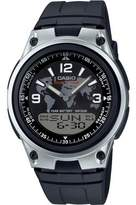Casio Men's Quartz Watch with Black Dial Analogue - Digital Display and Black Resin Strap AW-80-1A2VES