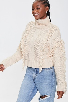 Forever 21 Loop-Knit Trim Turtleneck Sweater