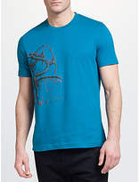 John Lewis Bicycle Print T-Shirt, Blue