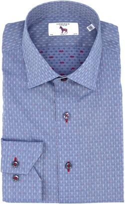 Lorenzo Uomo Trim Fit Diamond Dress Shirt