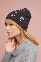 Anthropologie Pearled Bloom Beanie