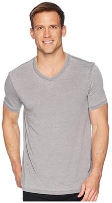 Lucky Brand Venice Burnout V-Neck Tee (American Navy) Men's Clothing