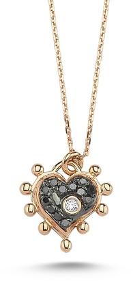 Black Diamond Selda Jewellery Heart Necklace