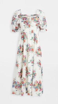 WAYF Smocked Midi Dress