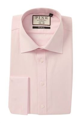 Thomas Pink Slim Fit Frederick Poplin Dress Shirt