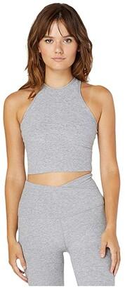 Beyond Yoga Spacedye Studio Cropped Tank (Darkest Night) Women's Clothing