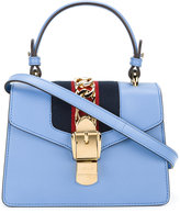 Gucci Sylvie shoulder bag - women - Cotton/Leather/Brass - One Size