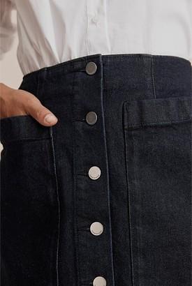 Country Road Raw Australian Cotton Denim Skirt