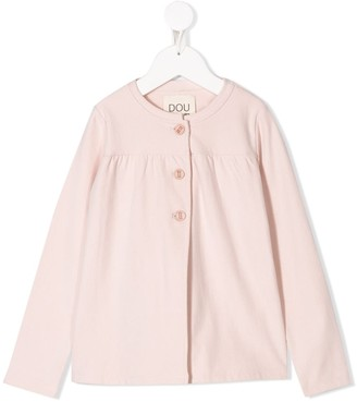 Douuod Kids Round Neck Relaxed-Fit Cardigan