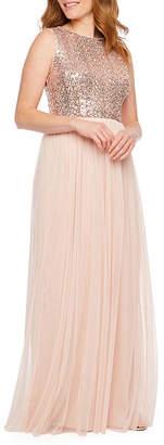 BLU SAG HairE Blu Sage Sleeveless Evening Gown