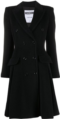 Moschino Double-Breasted Flared Coat