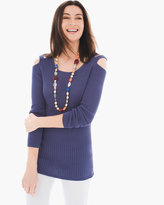 Chico's Double Cold-Shoulder Sweater