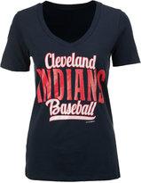 5th & Ocean Women's Cleveland Indians Shortstop V-Neck T-Shirt