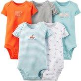 Carter's Baby Boys' 5 Pack Bodysuits (Baby) - Light Blue - 9M