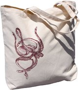 Canvas Tote Bag Ballet Octopus by Heaps Handworks