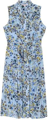 Nanette Nanette Lepore Floral Print Sleeveless Shirt Dress