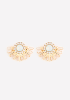 Bebe Stone Sunburst Earrings